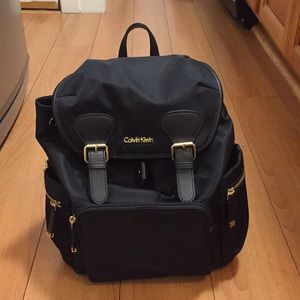 Calvin Klein Double Buckle Black Backpack